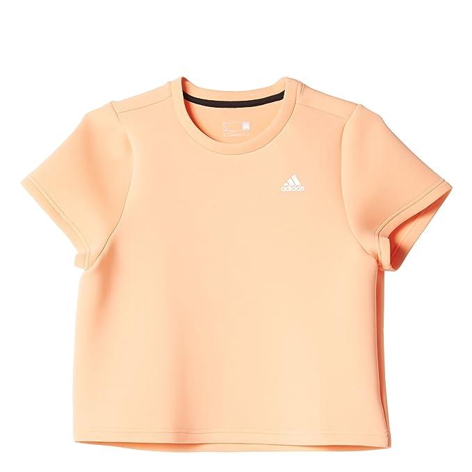 Adidas Mujer Marca Crop Camiseta de Manga Corta aj6393 Color Sol Brilla Peach: Amazon.es: Ropa y accesorios