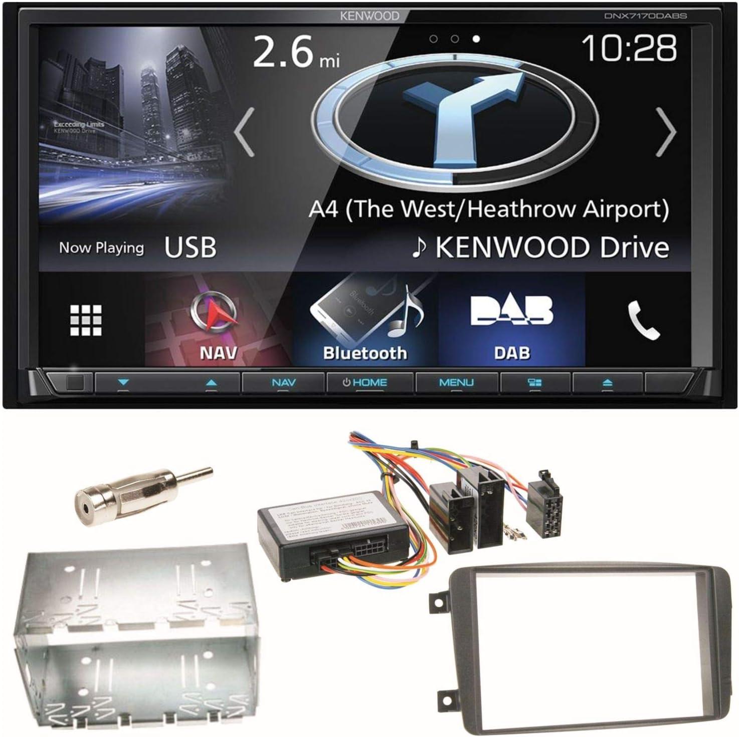 Kenwood aux Bluetooth USB mp3 2din radio del coche para mercedes clase c Vito CLK Vian