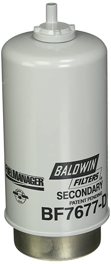 Amazon.com: Baldwin Heavy Duty BF7677-D Fuel Filter,7-5/8 x 3-9/32