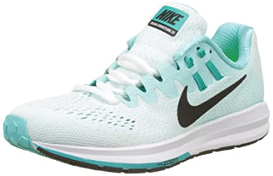 e9dffb1a7b2ab Nike Women s s WMNS Air Zoom Structure 20 Running Shoes Turquoise (White  Black Aurora