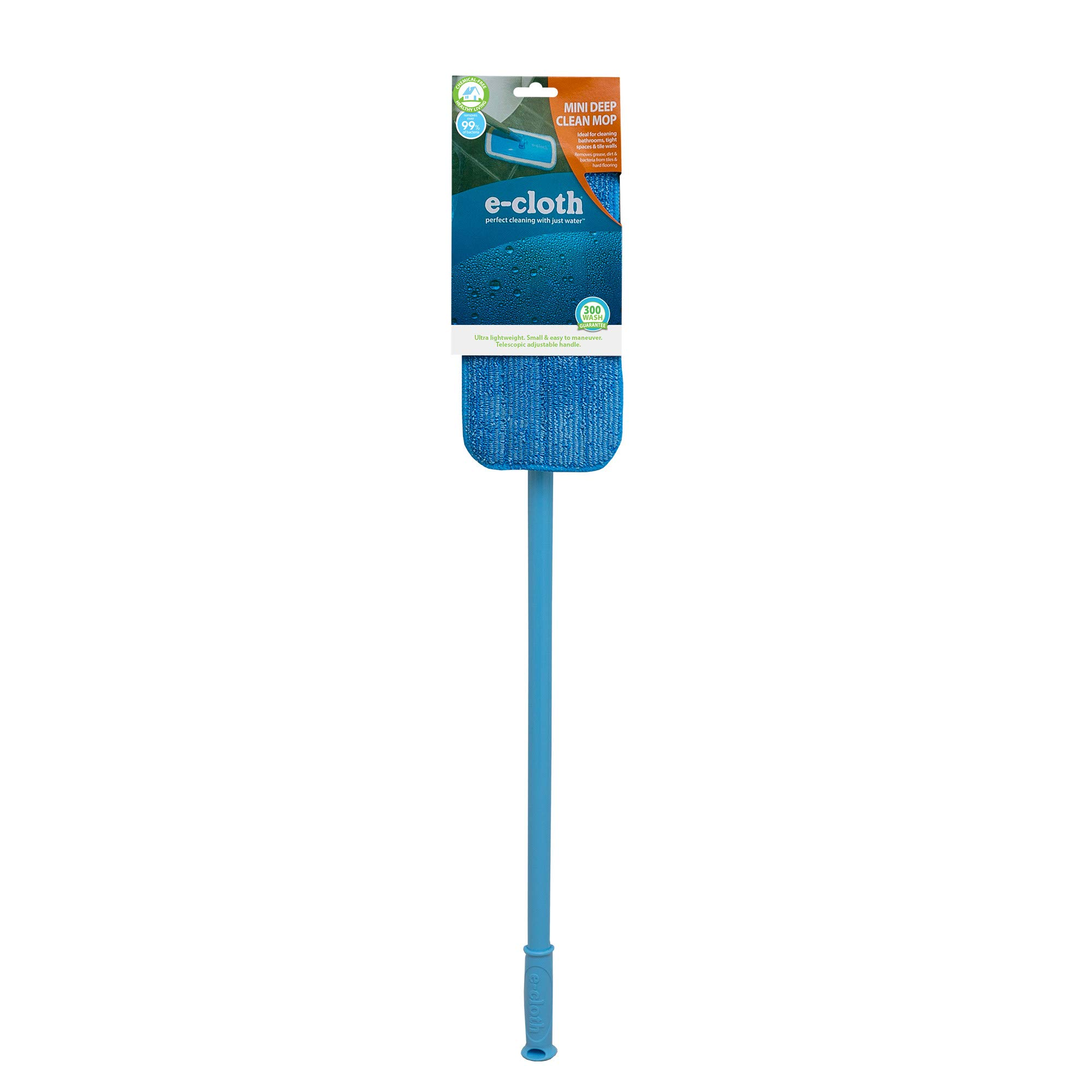 E-Cloth Mini Deep Clean Mop - Compact European Microfiber Damp Mop with Sturdy Telescoping Handle by E-Cloth (Image #3)