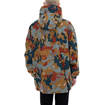 Obey - Chaqueta - Lock Down Anorak Drip - Camo: Amazon.es ...