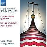 Taneyev: Complete String Quartets Vol.3 [Carpe Diem Quartet] [Naxos: 8573010]
