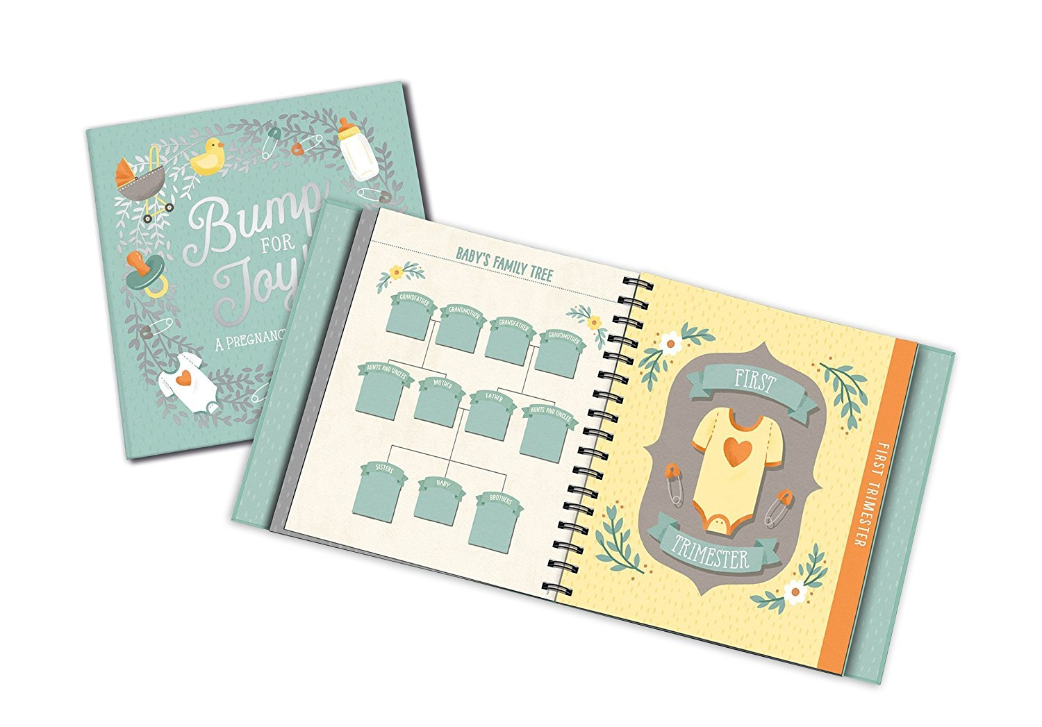 ukgiftstoreonline Personalised Bump for Joy Baby Keepsake Journal Record Book