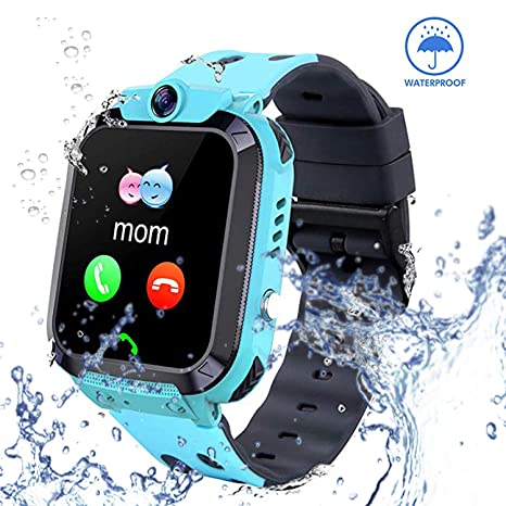 Smart Watch for Kids GPS Tracker - IP67 Waterproof Smartwatches with SOS Voice Chat Camera Alarm Clock Digital Wrist Watch Smartwatch Girls Boys ...