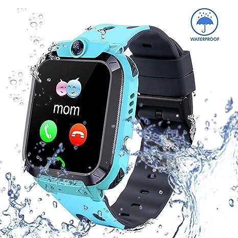 Smart Watch for Kids GPS Tracker - IP67 Waterproof Smartwatches with SOS Voice Chat Camera Alarm Clock Digital Wrist Watch Smartwatch Girls Boys ...