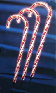 sienna lighted outdoor shimmering candy cane christmas lawn stakes set of 3 28 - Christmas Stake Lights
