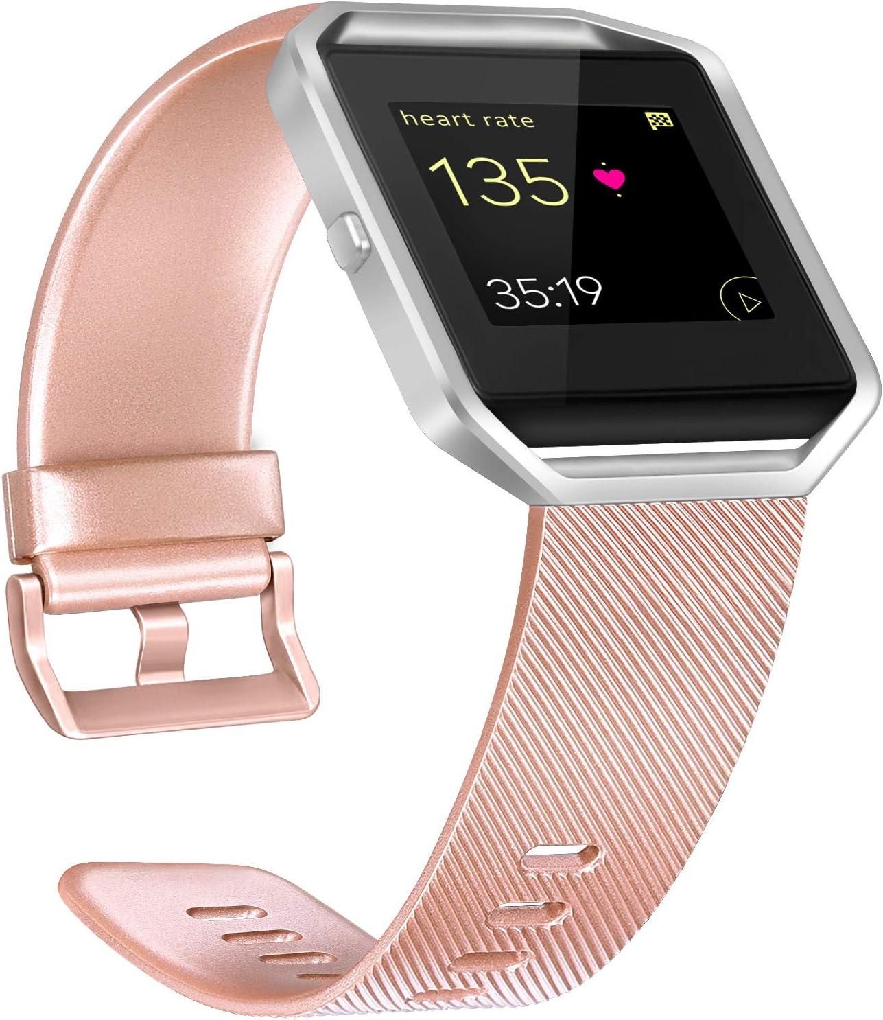Malla De Reloj Fitbit Blaze (talle L - Rose Gold)