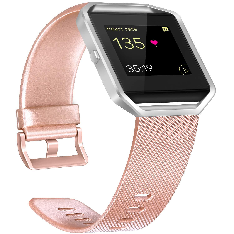 Malla De Reloj Fitbit Blaze (talle S - Rose Gold)