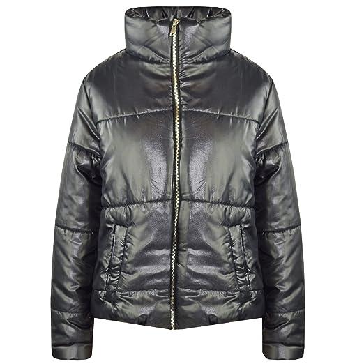 6ddc56fac Amazon.com  A2Z 4 Kids® Girls Jacket Kids Wetlook Cropped Padded ...