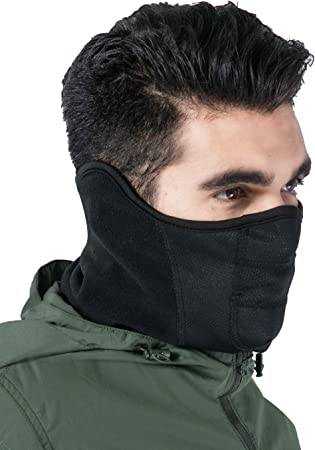 Amazon Com Winter Face Mask Neck Gaiter Cold Weather Half Balaclava Tactical Neck Warmer For Men Women Face Cover Shield For Running Skiing Snowboarding Motorcycle Riding