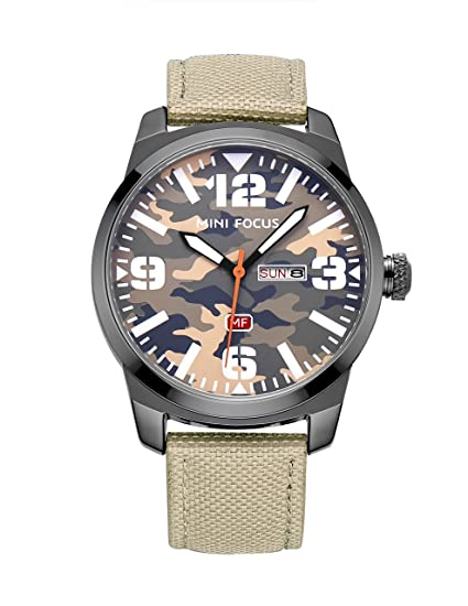 relojes militares únicas simples casuales para hombre de los hombres del cuarzo del calendario relojes,