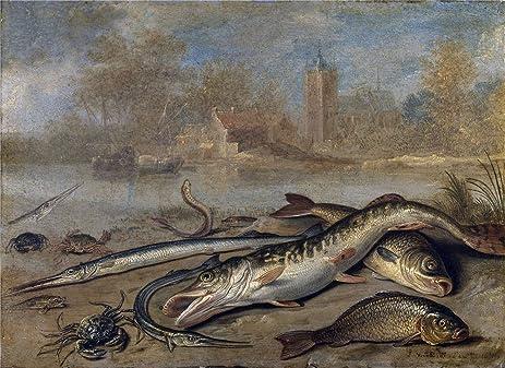 Amazon.com: Oil Painting \'Kessel The Elder Jan Van Pescados Y ...