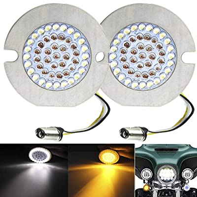 "ZYTC 3 1/4"" LED Turn Signals Flat Style Front 1157 LED Turn Signal Kit For Harley Davidson: Automotive"