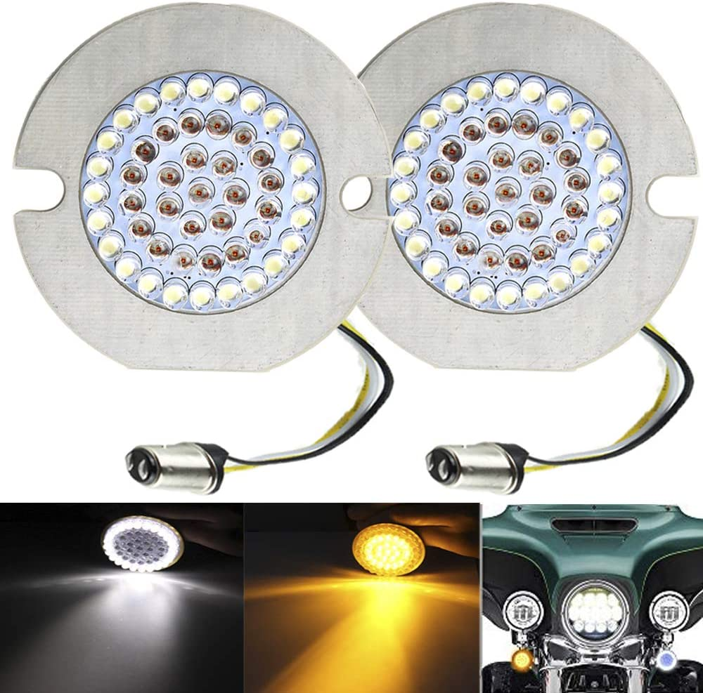 "ZYTC 3 1/4"" LED Turn Signals Flat Style Front 1157 LED Turn Signal Kit For Harley Davidson"