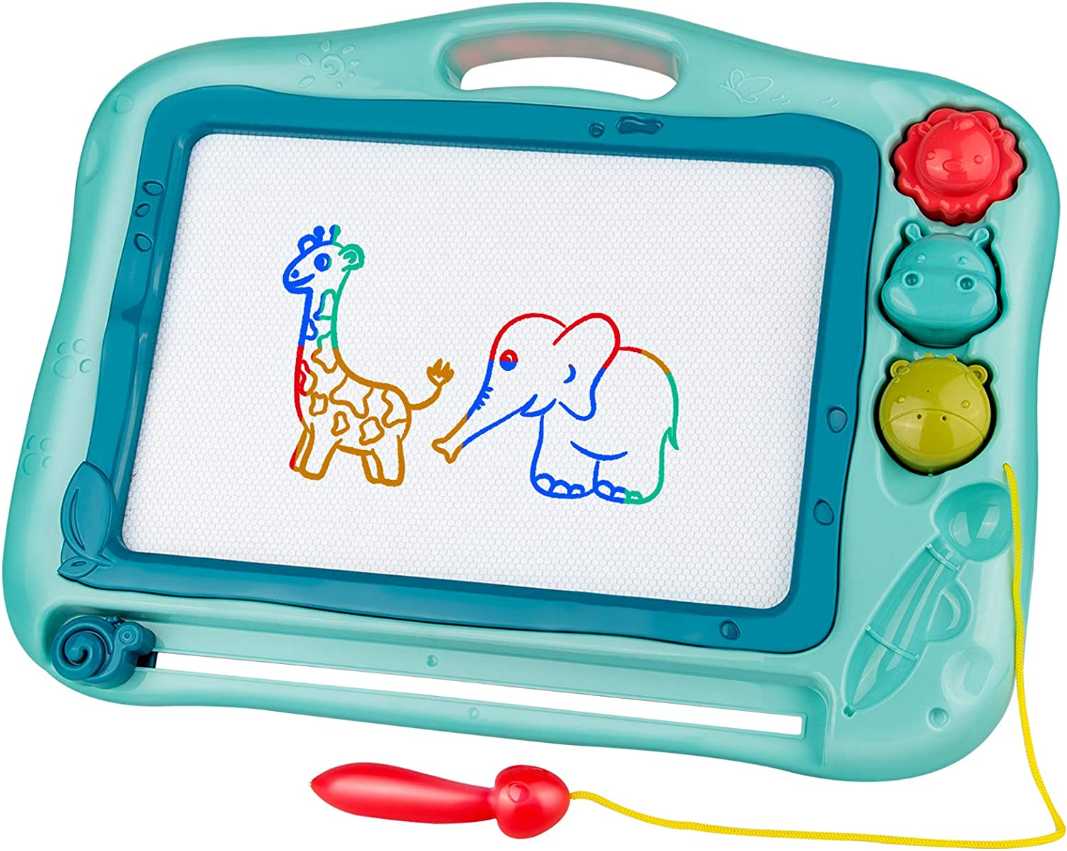 YIGEAN Magnetic Drawing Board Toy for Kids,Erasable Doodle Board for for 2 3 4 5 6 7 8 Year Old Girls and Boys Preschool Educational Learning Toy Gift for Kids Toddlers,Blue