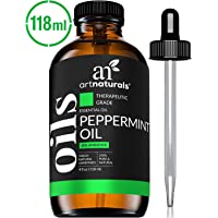 ArtNaturals 100% Pure Peppermint Essential Oil - (4 Fl Oz / 120ml) - Natural Premium Therapeutic Grade Mentha Peperita - Fresh Scent for Home and Work, Perfect to Repel Mice and Spiders