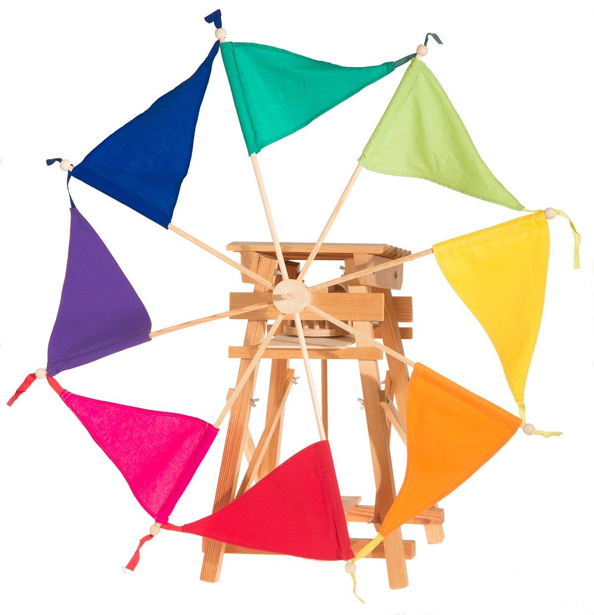 Kraul – Windmühle Kit mit Regenbogen Segel