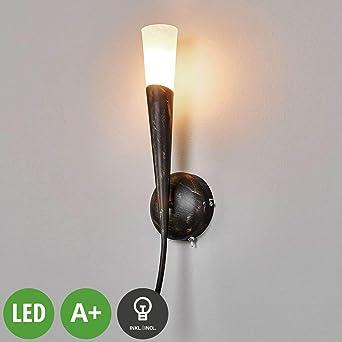 Moderne Wandleuchte Flur Leuchten Wandlampe Wohn Zimmer Lampe Wand Strahler Glas