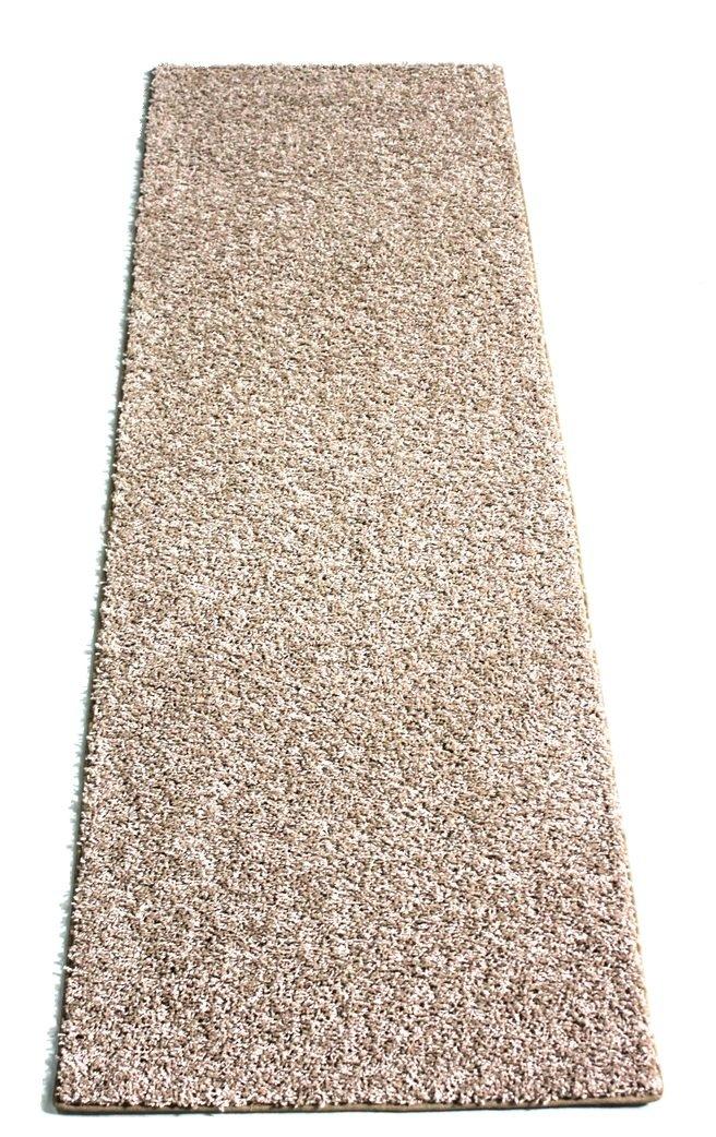 2'x10' Economy Runner   Carpet Rug Sets 25 Oz. Taffy Apple Beige Frieze for Home & School Use (4)
