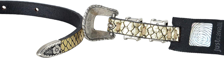 Just Cavalli 100/% Leather Gold Womens Belt US 25 IT 90