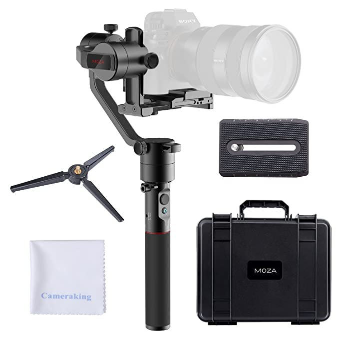 Moza Air Cross 3 Axis Handheld Gimbal Ultra Lightweight Portable Camera Stabilizer Support Unlimited Power Source Long Exposure Timelapse Auto Tuning For Parameters For Mirrorless Cameras Up To 1800g/3 by Moza