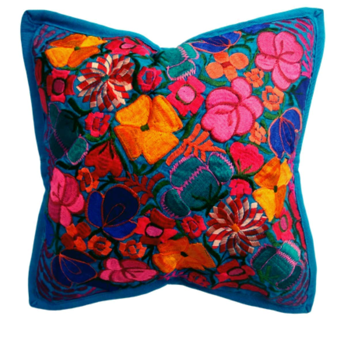 Amazon Com Mexican Cushion Cover Embroidered For Outdoor