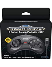 Retro Bit SEGA MD- Control Pad Mini 6-B USB Negro