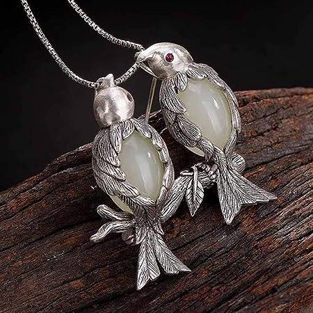 Pure S925 Sterling Silver Women Jade Jadeite Leaf Chain Dangle Earrings