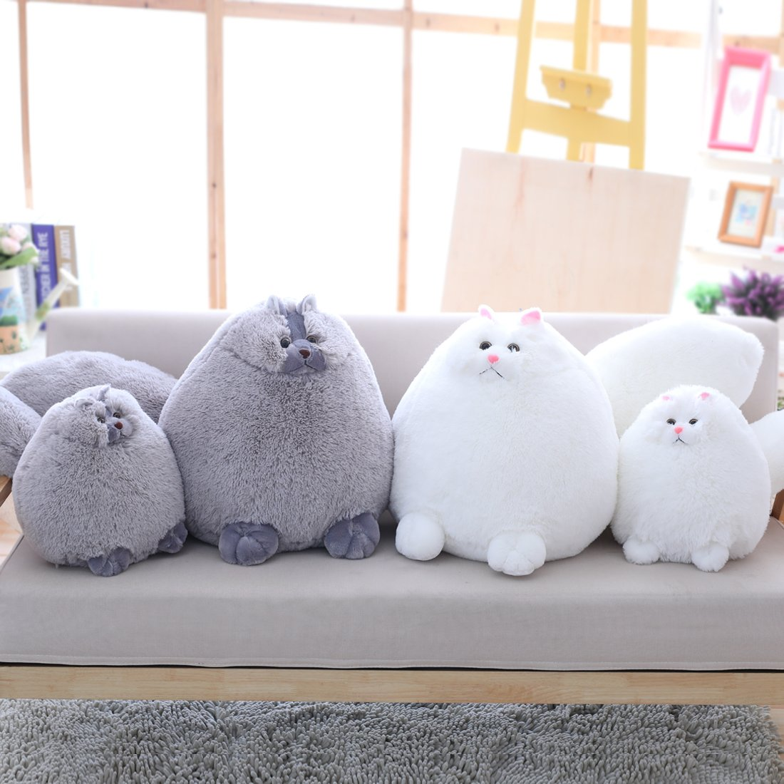 Winsterch Kids Cats Stuffed Animal Toys Birthday Gift,Plush Pillow,Gray,11.8 Inches by Winsterch (Image #7)