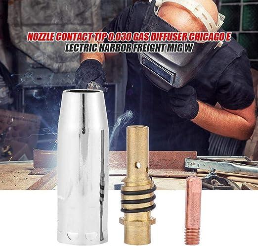 graroiC Nozzle Contact Tip 0.030 Gas Diffuser MIG Welder Consumable Welding Tool