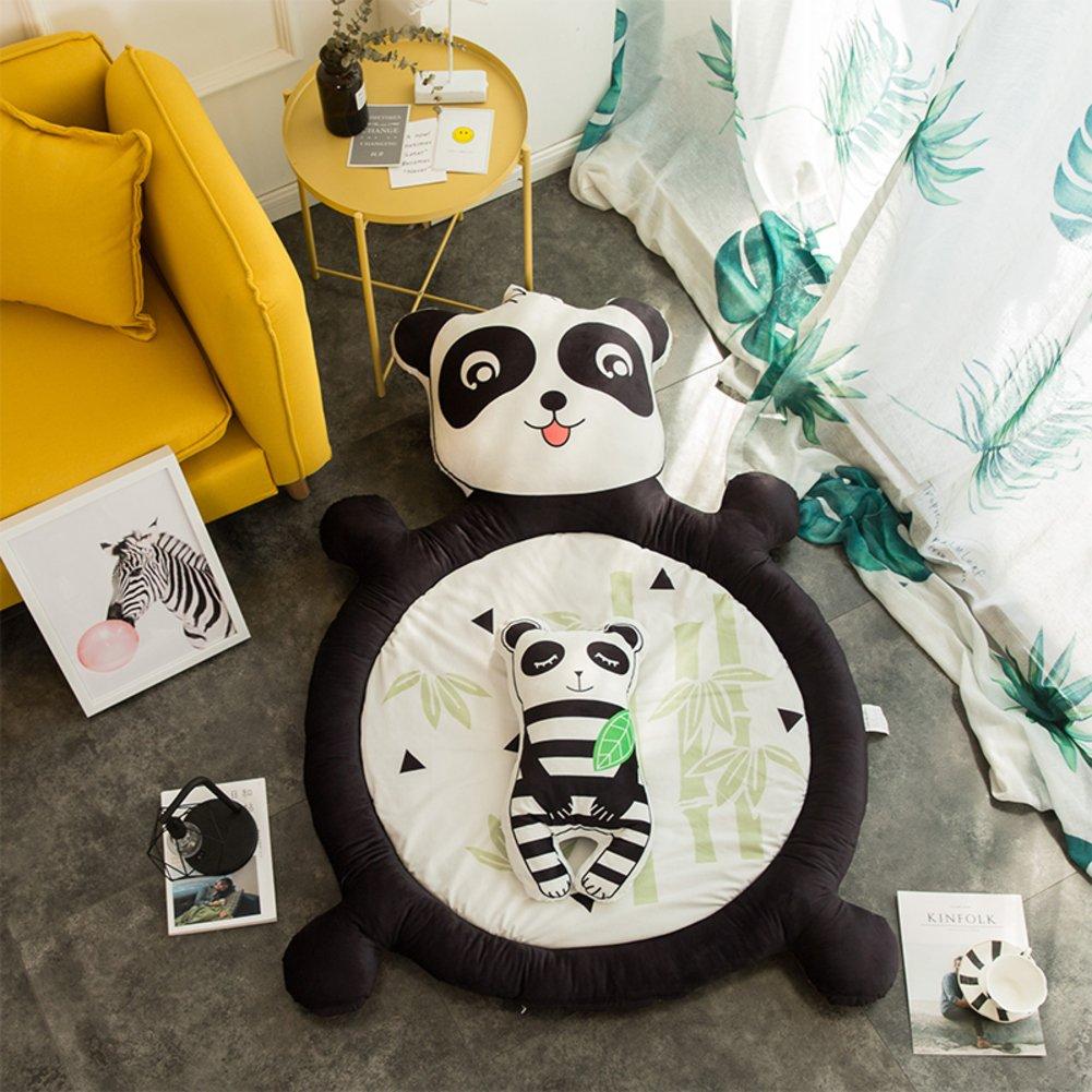 HOMMEMAT Baumwolle Baby Crawling-Matte,Verdicken sie Folding Runde Mat Baby-spielMatte Für einen rutschfesten Teppich 59  d-E B