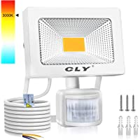 CLY 20W Foco LED Exterior Luz Cálida 3000K, Focos LED Sensor Movimiento Exterior Impermeable IP66, Lámparas Led de…