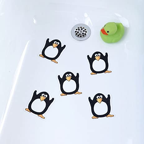 Penguin   Bathtub Stickers Safety Decals Treads Non Slip Anti Skid Shower  Applique Tub Tattoos