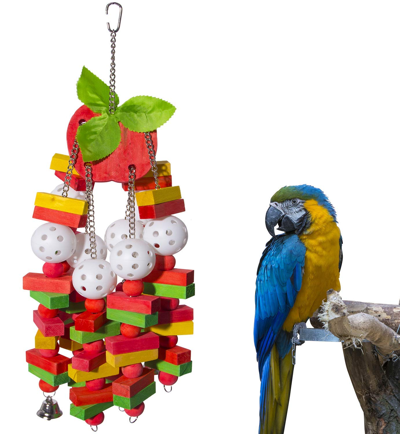 Petsvv Bird Parrot Toys for Medium Large African Grey Macaws Cockatoos Eclectus Amazon by Petsvv