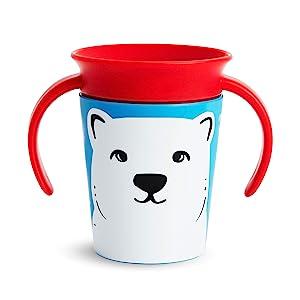 Munchkin Miracle 360 WildLove Trainer Cup, 6 Oz, Polar Bear