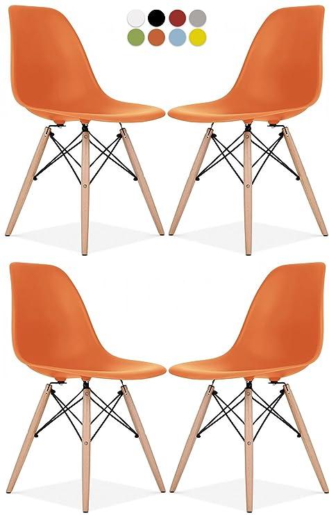 Amazon.com: Silla Eames Style de La Valley – Juego de 2 / 4 ...