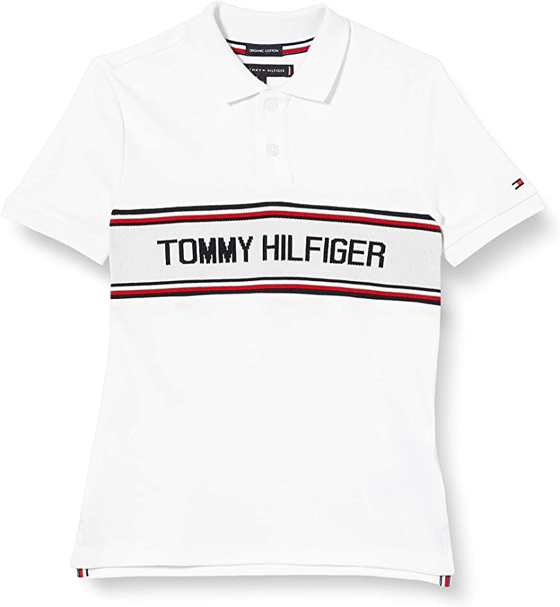 Tommy Hilfiger TH Intarsia Chest Polo S//S Bambino