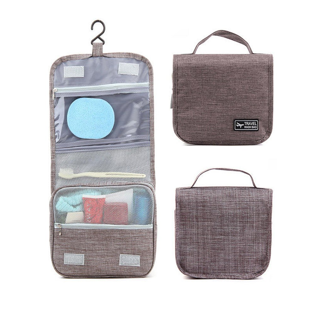 Women Men Oxford Travel Toiletry Bag Portable Hanging Cosmetic Organizer Carry Case