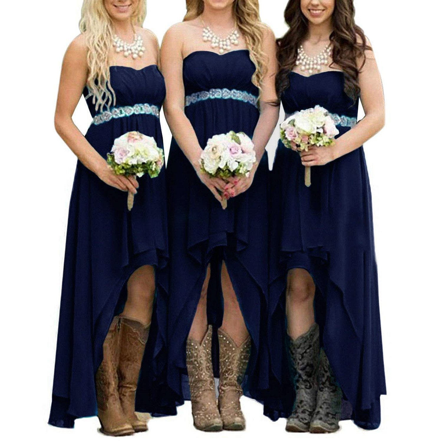 EUMI Chiffon Bridesmaid Dresses High