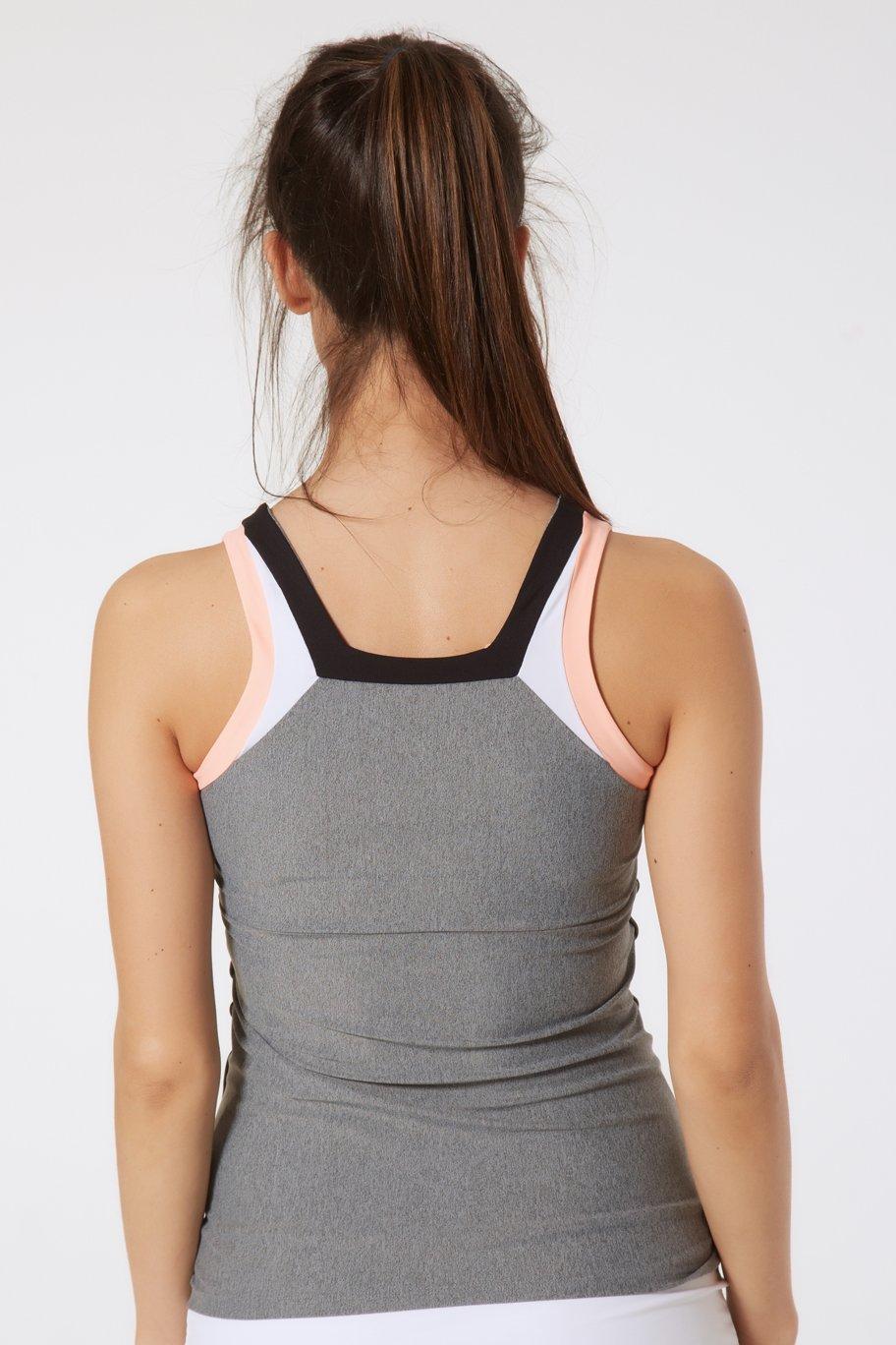 Naffta Tenis Padel Camiseta Tirantes, Mujer, Gris Medio/Negro, M: Amazon.es: Deportes y aire libre