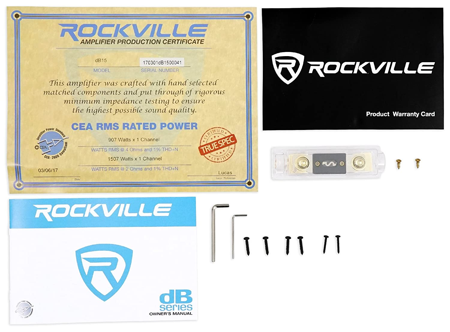 Speakers Wired In Parallel Recommended Amplifier Stable At 1 Ohm Mono Rockville Db15 6000w Peak 1500w Rms 2 Cea Compliant Car Amp Kit Electronics