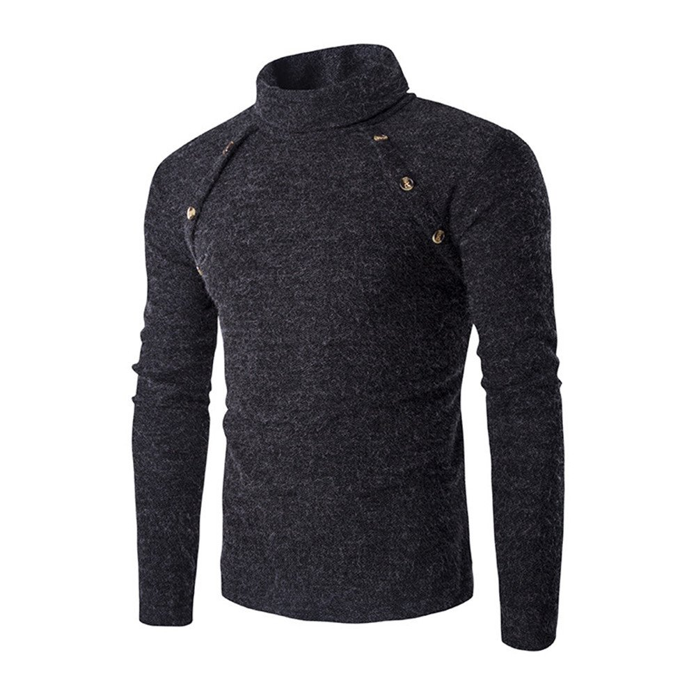 Gndfk doppelt symmetrisch Rollkragen - Pullover und schlanke männer Pullover am Revers,dunkelgrau,m