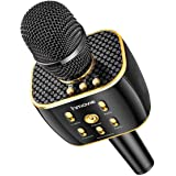 Wireless Karaoke Microphone 12w Hi-Fi Bluetooth Speaker Player for iPhone Android Smartphone, Dual Drivers for Superior Sound Capsule 16 Hours Playtime