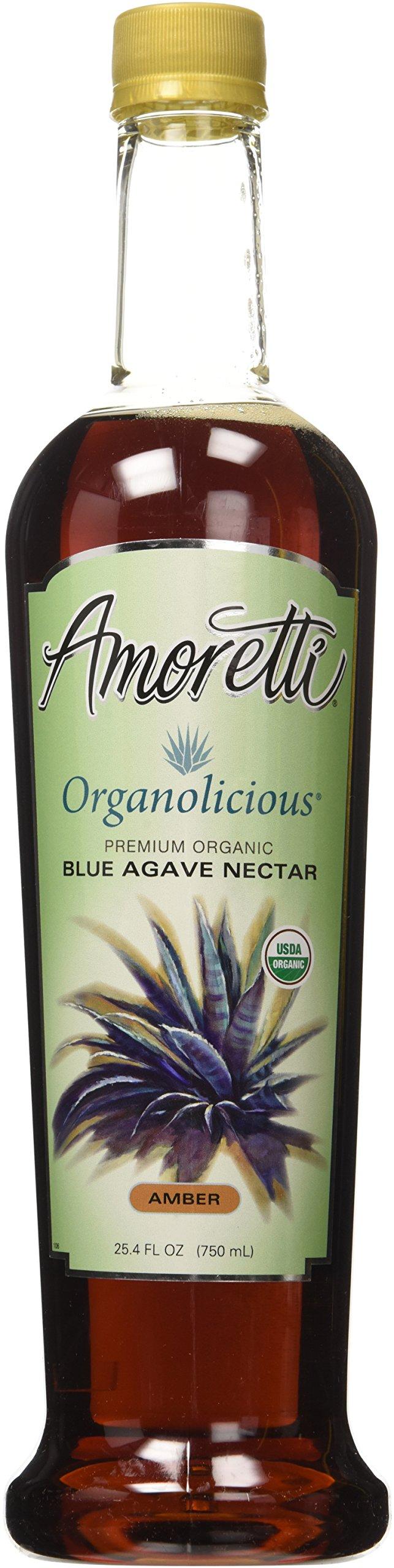 Amoretti Premium Organolicious Blue Agave Nectar, 25.4 Fluid Ounce