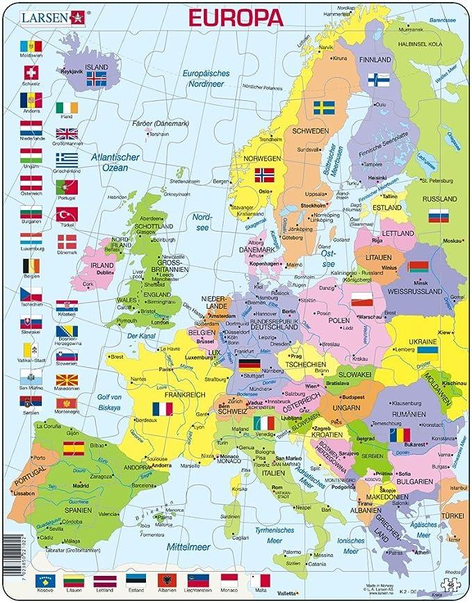 Desconocido Europa Puzzle 48 Piezas: Amazon.es: Juguetes y juegos