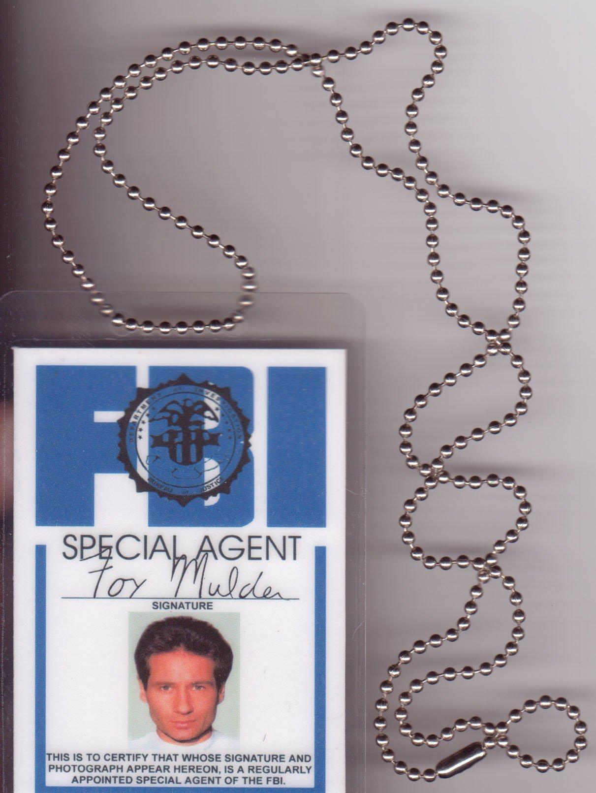 Mulder FBI Necklace Fun Fake ID License