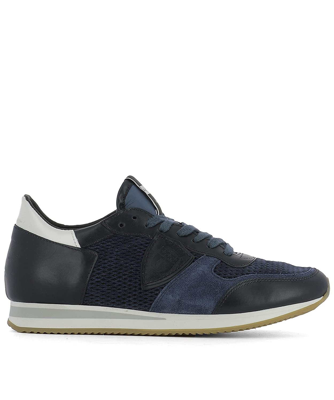 Philippe Model メンズ TSLUHL15 ブルー 革 運動靴 B07DX661TM