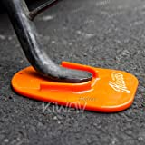 KiWAV motorcycle motorcross orange kickstand pad universal fit KiWAV