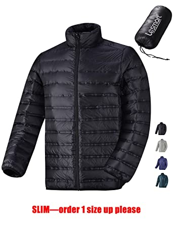 Men's Ultralight Down Jacket Backpacking Packable Quilted Puffer ...